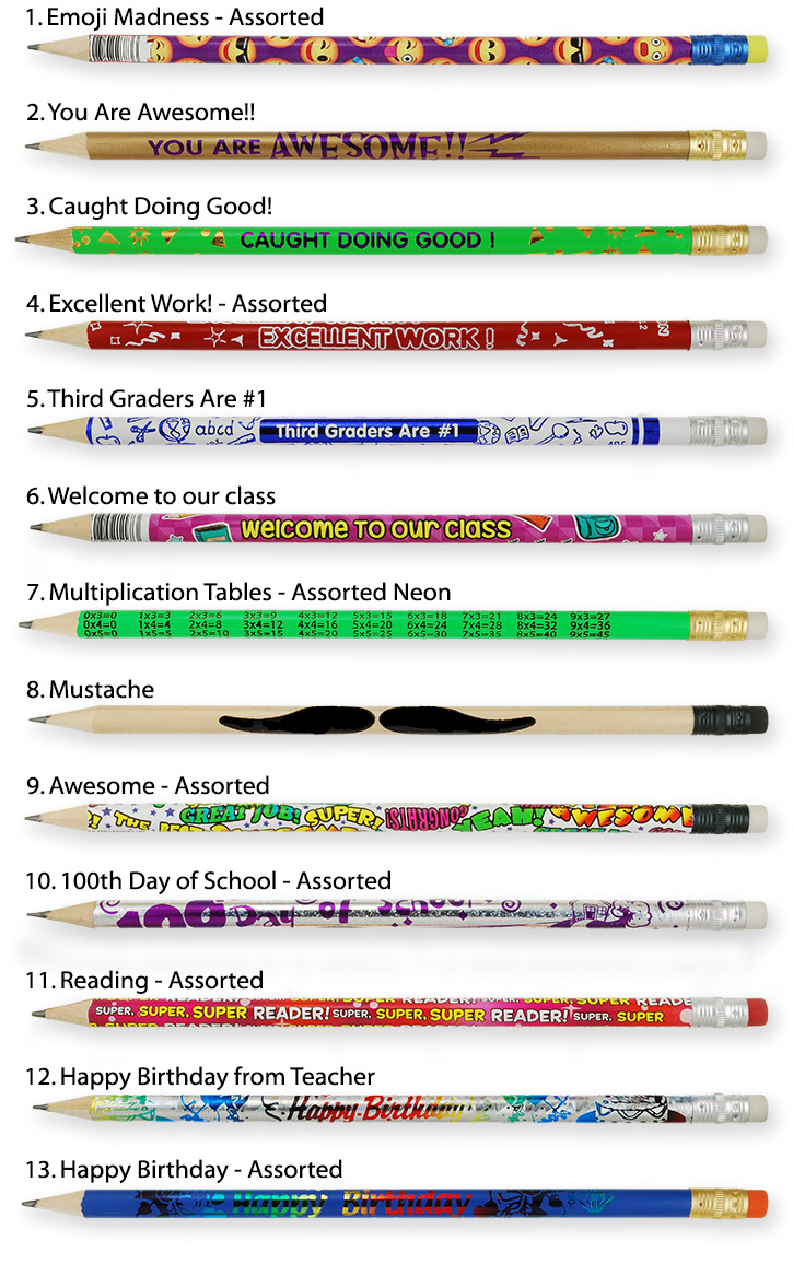 Personalized Pencils - Neon Colors