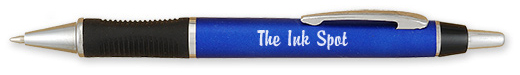 Personalized Brilliant Rubber Grip Pens